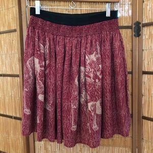 crimson fox skirt